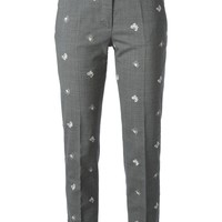Piazza Sempione butterfly crochet detailed trousers