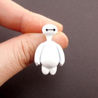 Big Hero 6 Baymax Shaped Two Part Front and Back Stud Earring | DOTOLY