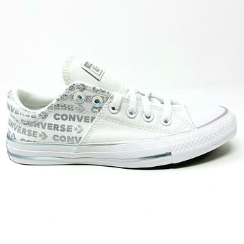 Converse Chuck Taylor All Star Madison Ox White Silver Wordmark 566104C Women's