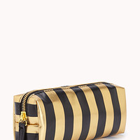 Glam Striped Cosmetic Pouch