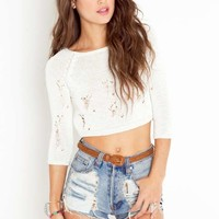 Ripped Crop Knit