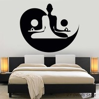 Yin Yang Art Decal Yoga Zen Meditation Bedroom Decor Wall Stickers Mural Home Decor Living Room Bedroom Removable Decals S728