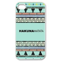 Keep Calm and Hakuna Matata Tribal Pattern Snap on Case Cover for Apple Iphone 4/4s Best Case Show 1ya349