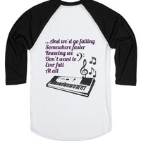 Go Radio Band Baseball Tee-Unisex White/Black T-Shirt