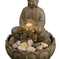 Buddha Illuminated Tabletop Fountain