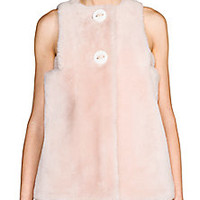 Fendi - Shearling Button-Front Top - Saks Fifth Avenue Mobile