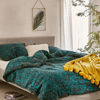 Worn Damask Comforter - Urban Outfitters