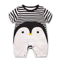 Baby rompers summer style Penguin baby boy clothes newborn girl short sleeve Baby clothes children's Clothes, baby girl clothing