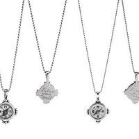 HAND ENGRAVED COMPASS NECKLACES