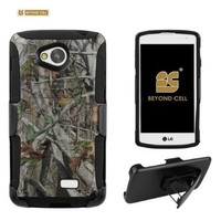 Beyond Cell ®Durable Shell Case Combo With Design For LG Tribute MS395/LS660/F60 (Metro PCS,Sprint,Boost Mobile,Virgin Mobile,International) 2 Layer Protection High Impact Hard +Soft (Silicone) Hybrid Rugged Protective Case with Built in Kickstand and Belt