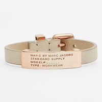 MARC BY MARC JACOBS Leather ID Bracelet   Nordstrom