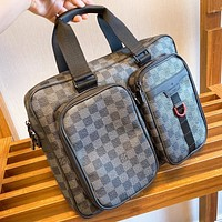 LV Fashion New Tartan Leather Shoulder Bag Crossbody Bag Handbag