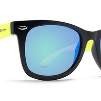 Dot Dash Plimsoul Sunglasses (Black Lime Satin/Green Chrome) at 7TWENTY Boardshop, Inc
