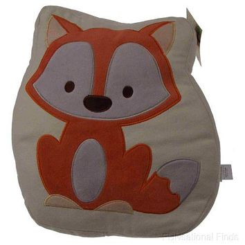 Studio BGD Fox Decorative Pillow Tan Cream Orange 14in Bedroom Throw Stuffed NEW