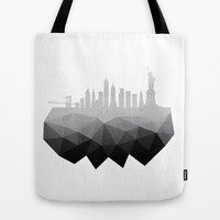 New York concrete silhouette Tote Bag by Cafelab