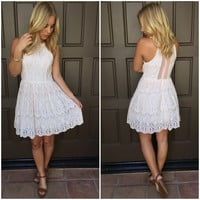 One & Only Babydoll Lace Dress - Pink