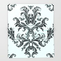 Damask Pattern Throw Blanket by All Is One