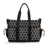 Skip Hop DUO DOUBLE hold-it-all diaper bag, Onyx Tile