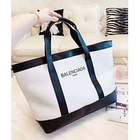 Balenciaga New fashion letter print contrast color shoulder bag women handbag