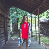 Jersey Tunic in Red