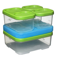 Rubbermaid LunchBlox Sandwich Kit, Food Storage Container, Green (1806231)