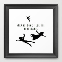 Dreams Come True In Neverland. Framed Art Print by Ian Layne | Society6