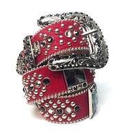 B.B. Simon 4045 Red Crystal Belt