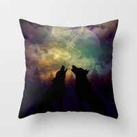 Mid-Winter Moon - Soulmates Throw Pillow by soaring anchor designs ⚓