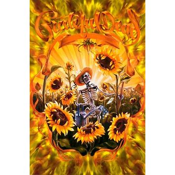 Grateful Dead Sunflower Harvester Poster 24x36