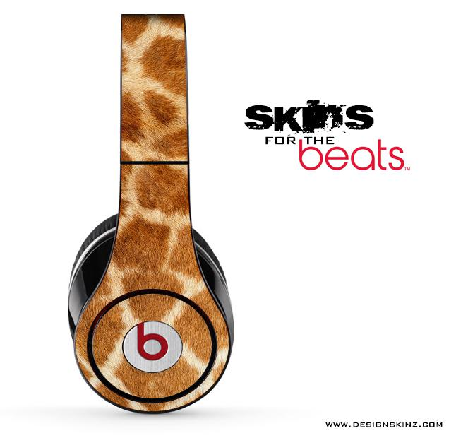 Image of Real Giraffe Skin for the Beats by Dre