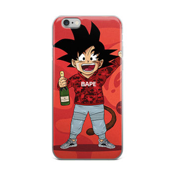 Dragon Ball Z x Bape Kid Goku Red iPhone 4 4s 5 5s 5C 6 6s 6 Plus 6s Plus 7 & 7 Plus Case