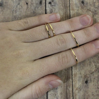 Four gold circle Midi ring, Knuckle Ring, above the knuckle ring fashion accessories jewelry accessory wedding bridesmaid gift