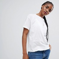 ASOS Boxy T-Shirt With Roll Sleeve Detail at asos.com