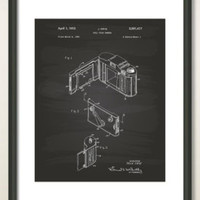Pulley Block 1881 Patent Art Illustration - Drawing - Printable INSTANT DOWNLOAD - Get 5 Colors Background