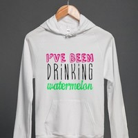 Drinking Watermelon - M Studio - Skreened T-shirts, Organic Shirts, Hoodies, Kids Tees, Baby One-Pieces and Tote Bags