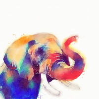 The Majestic - Elephant Art Print by Jacqueline Maldonado | Society6