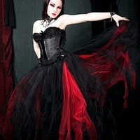 Gothic Cosplay Anime Formal Length Prom Tutudfsdd