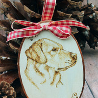Yellow Labrador Retriever Christmas Ornament or Gift.