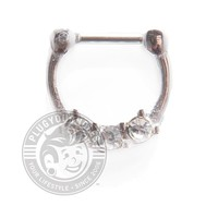 Triple Prong Gems Steel Septum Clicker