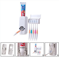 Automatic Toothpaste Dispenser Travel Toothbrush Holder Tooth Paste Tube Squeezer Dispenser Tooth Brush Holder Brush Rack Box