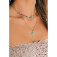 Strolling Around Layered Necklace (Turquoise)