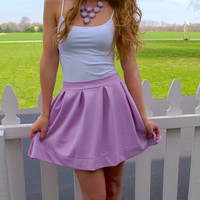 You're My Pick Skirt: Lilac