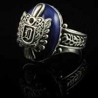 Vampire Diaries Damon's Daylight Walking Signet Ring Silver Plated Size 9 Ring with Gift Box