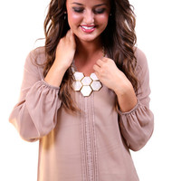 Classic Taupe Blouse   The Rage