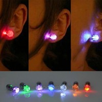 One Pair Light Up Led Earrings Studs Dance Party Accessories for Party/Xmas = 5987848257