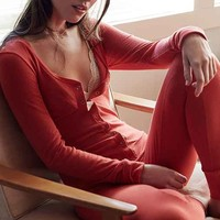 Out From Under Thermal Union Jumpsuit