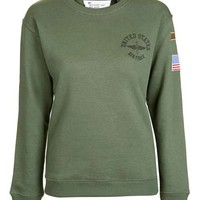 Airforce Sweatshirt by Tee & Cake - Tops - Clothing