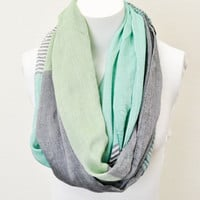 Serenity in Stripes Infinity Scarf