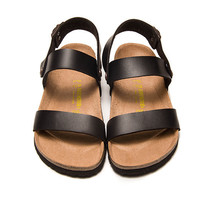 2017 Birkenstock Summer Fashion Leather Cork Flats Beach Lovers Slippers Casual Sandals For Women Men Couples Slippers color black size 36-45