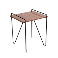 Loft End Table Walnut, Black